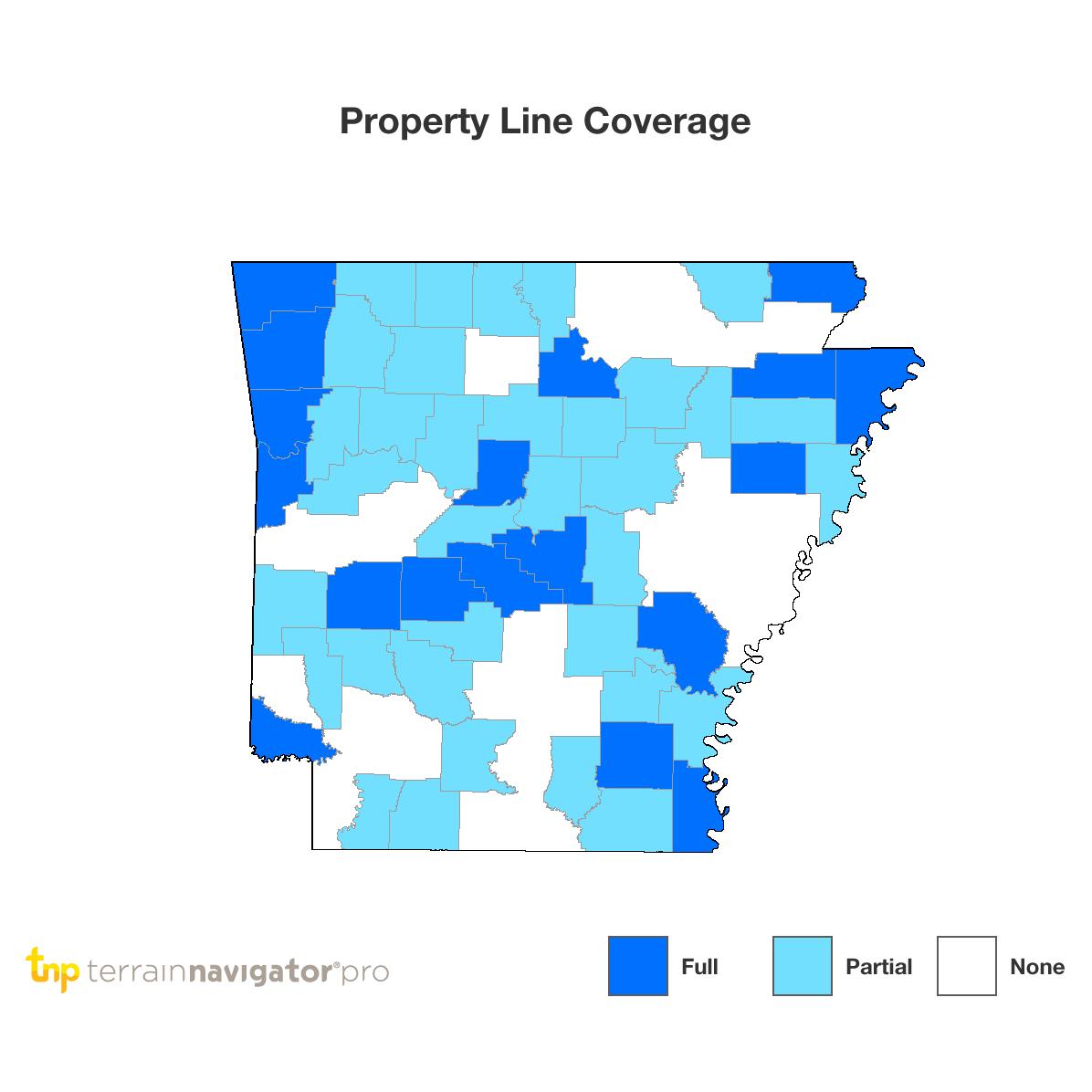 Benton County Arkansas Property Map